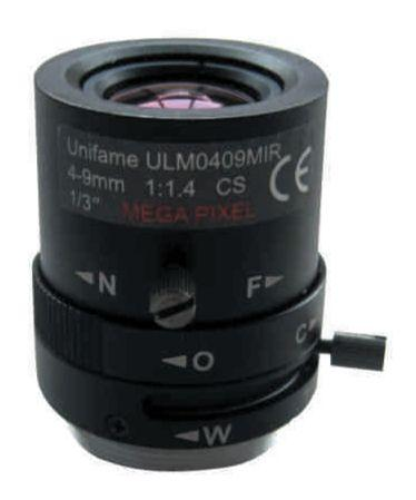 UNİFAME ULM-0409MIR Mega Pixel Manuel Day&Night Varifocal Lens